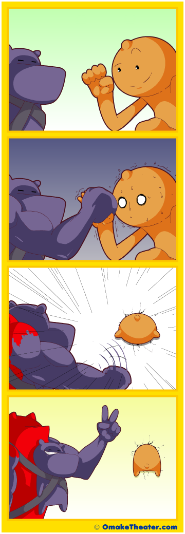 A Farewell to Arm Wrestling - Friday 4Koma 第351話