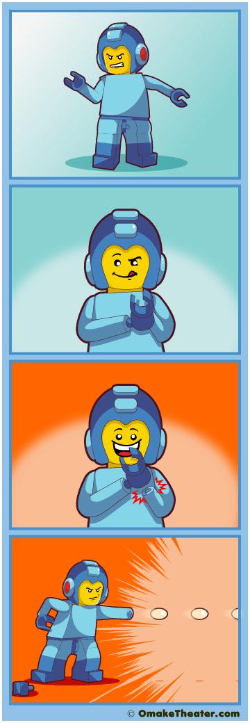 Lego Mega Man is Canon - Friday 4Koma 第262話