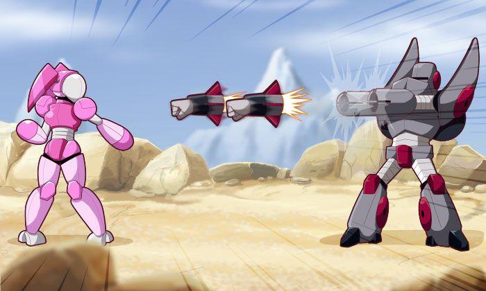 Giant Robots Fighting